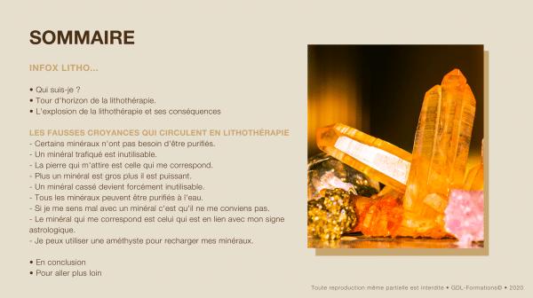 sommaire guide lithothérapie