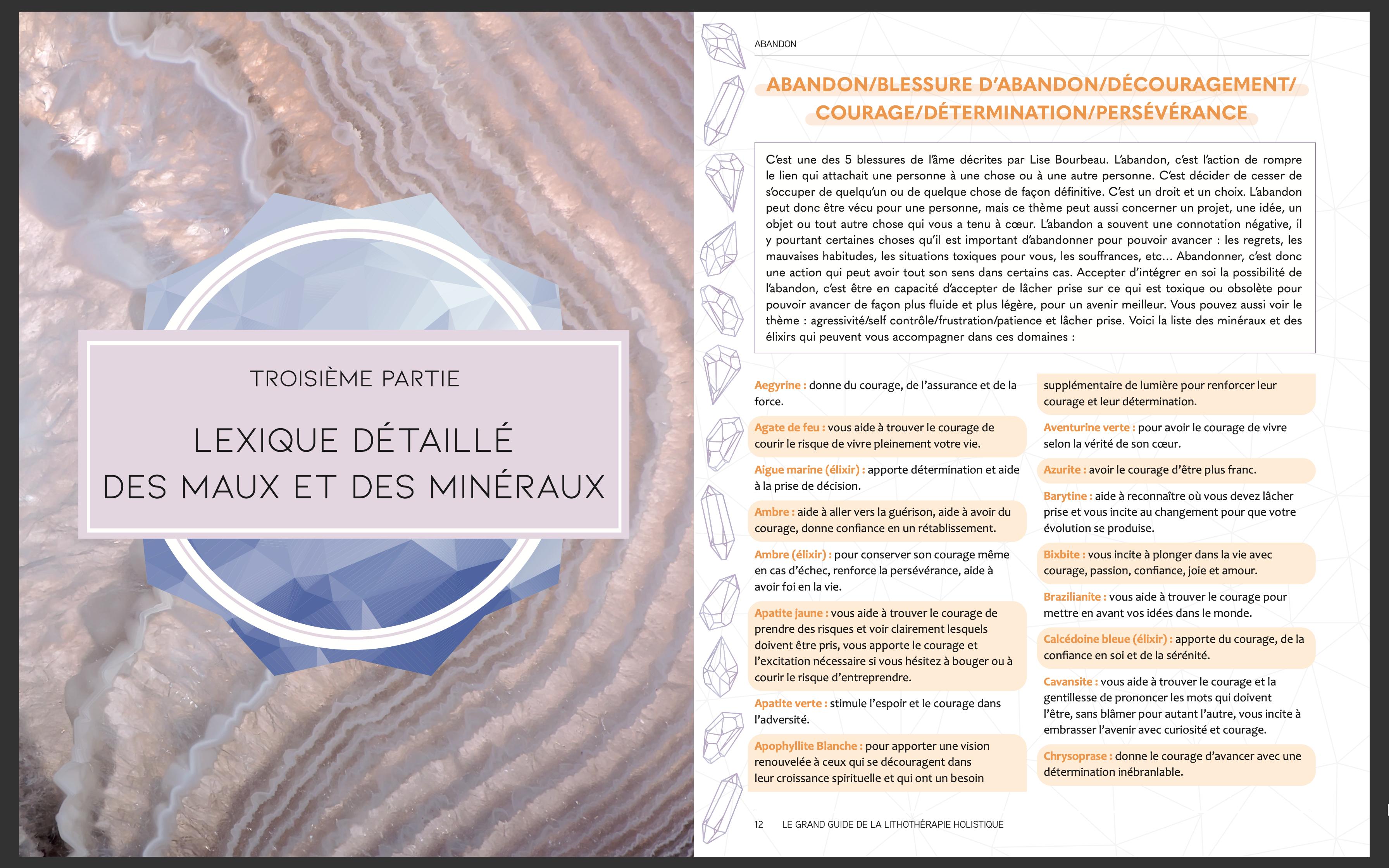 Lexique détaillé des pierres et des minéraux